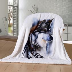 Wolves <font><b>Blanket</b></font> Indian Wolf <font><b>Reve