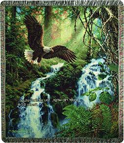 Manual Woodworkers & Weavers Tapestry Throw, Psalm 91:4, 50