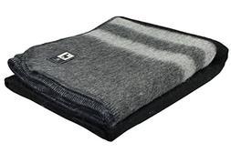 wool bicolor woven banderita blanket
