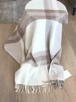 Wool Blanket 51x 87 In 100% Natural Lamb Wool Throw Organic