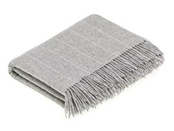 Wool Throw Blanket by Bronte - Merino Lambswool - Pinstripe