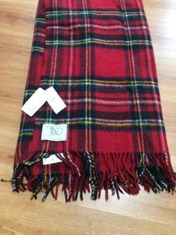 """Woolmark Pure New Wool Throw Blanket 55""""X66"""" Multi-Color"""