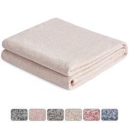 Kawahome Original Woven Blanket, Cozy Reversible Gradient Pr