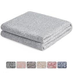 kawahome Original Woven Blanket  Cozy Gradient Blanket with