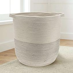 "Extra Large Woven Storage Baskets   18"" x 16"" Decorative Bla"