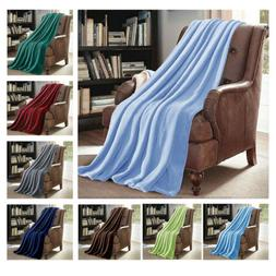 X LARGE Soft Micro Plush Flannel Fleece Throw Blanket New 60