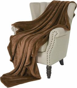 Exclusivo Mezcla XL Throw Flannel Fleece Velvet Plush Blanke