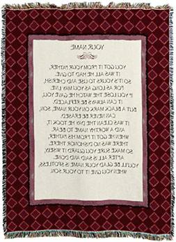 Pure Country Weavers - Your Name Woven Tapestry Throw Blanke